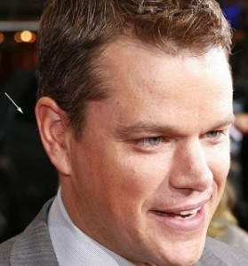 Matt Damon gets acupuncture